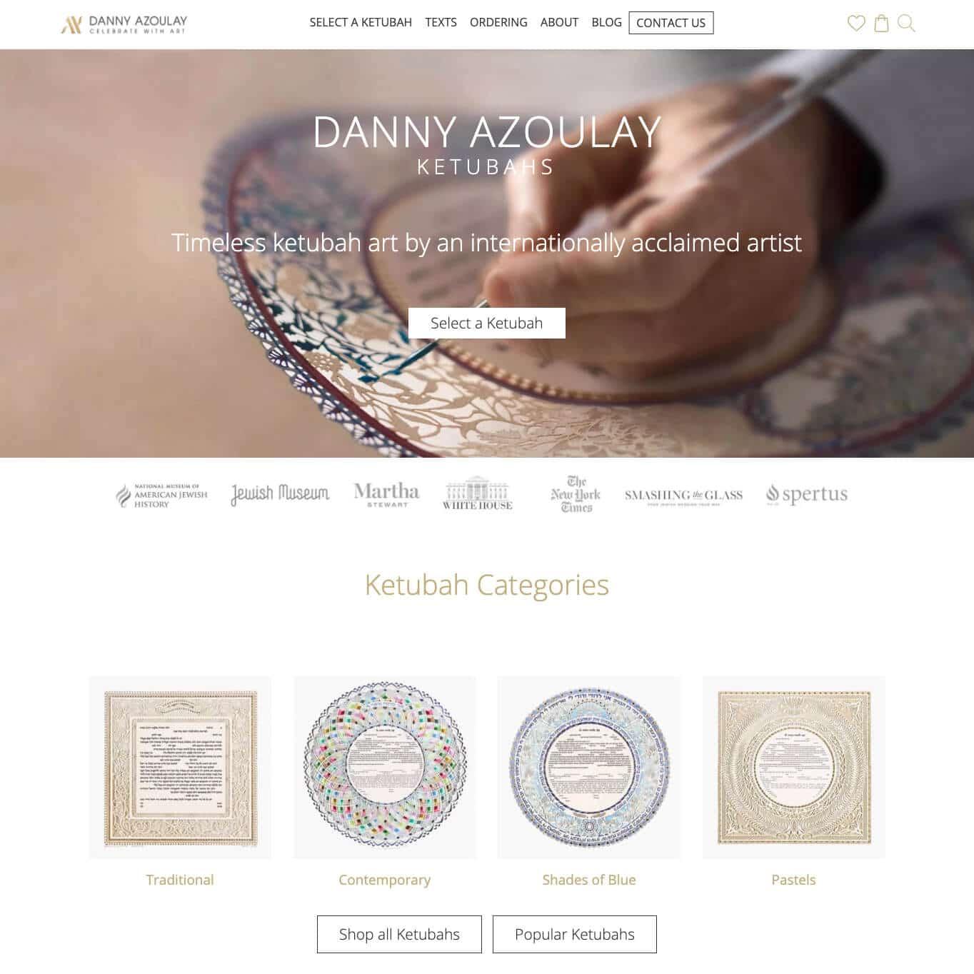 Danny Azoulay: Traditional & Modern Ketubah Art for Sale